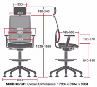 MIX Mesh Draughtsman Chair